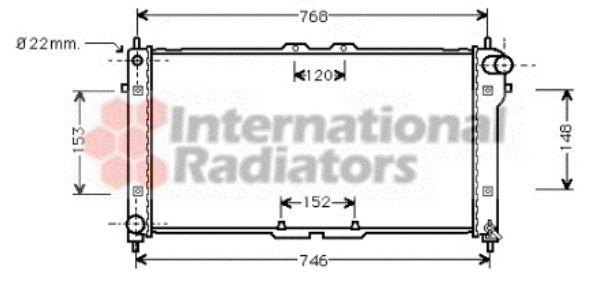 Radiateur, refroidissement du moteur - VAN WEZEL - 27002073