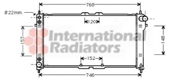 Radiateur, refroidissement du moteur - VAN WEZEL - 27002074
