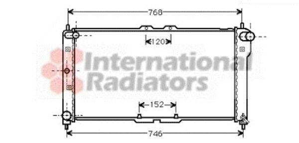 Radiateur, refroidissement du moteur - VAN WEZEL - 27002075
