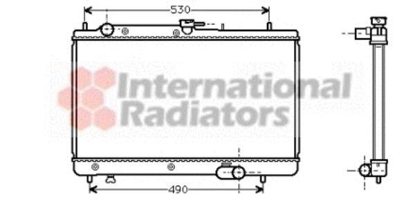 Radiateur, refroidissement du moteur - VAN WEZEL - 27002088