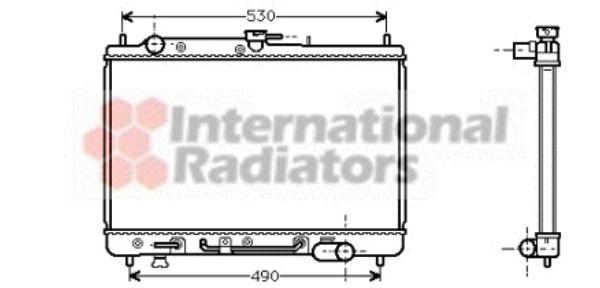 Radiateur, refroidissement du moteur - VAN WEZEL - 27002089