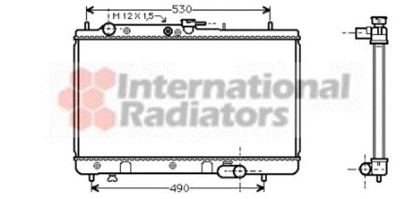 Radiateur, refroidissement du moteur - VAN WEZEL - 27002095
