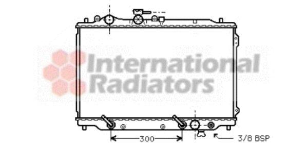 Radiateur, refroidissement du moteur - VAN WEZEL - 27002096