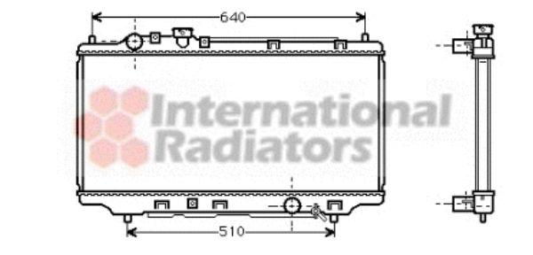 Radiateur, refroidissement du moteur - VAN WEZEL - 27002098