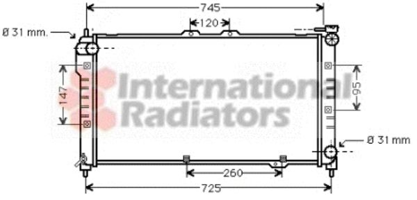 Radiateur, refroidissement du moteur - VWA - 88VWA27002101