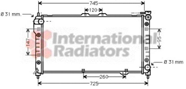 Radiateur, refroidissement du moteur - VAN WEZEL - 27002113