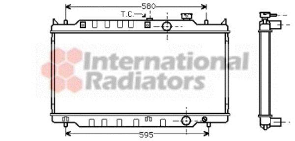 Radiateur, refroidissement du moteur - VAN WEZEL - 27002117