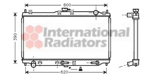 Radiateur, refroidissement du moteur - VAN WEZEL - 27002134