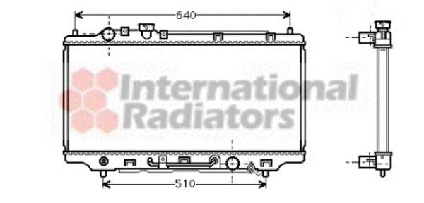 Radiateur, refroidissement du moteur - VAN WEZEL - 27002146