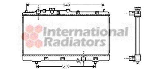 Radiateur, refroidissement du moteur - VAN WEZEL - 27002151