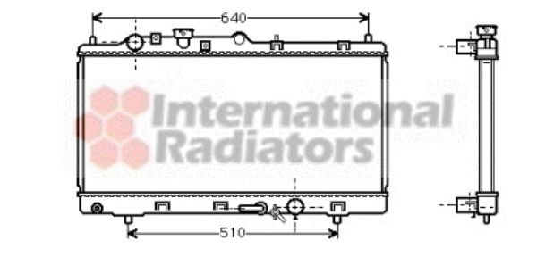 Radiateur, refroidissement du moteur - VAN WEZEL - 27002152