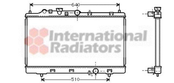 Radiateur, refroidissement du moteur - VAN WEZEL - 27002153