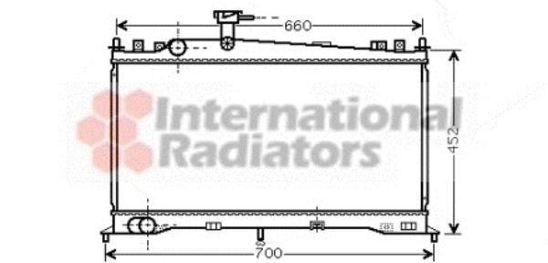 Radiateur, refroidissement du moteur - VAN WEZEL - 27002160