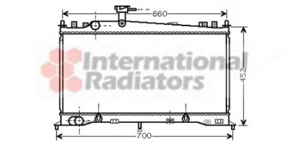 Radiateur, refroidissement du moteur - VAN WEZEL - 27002161