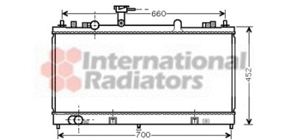 Radiateur, refroidissement du moteur - VAN WEZEL - 27002162