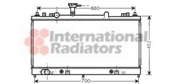 Radiateur, refroidissement du moteur - VAN WEZEL - 27002163