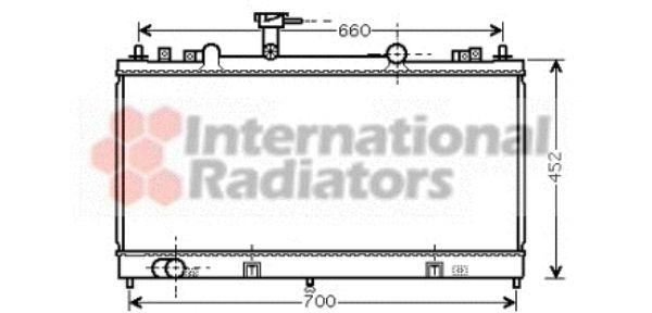 Radiateur, refroidissement du moteur - VAN WEZEL - 27002164