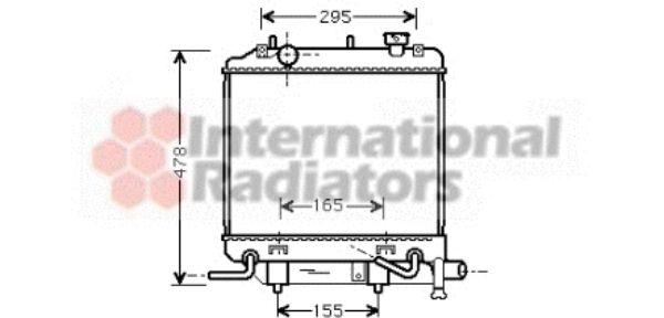 Radiateur, refroidissement du moteur - VAN WEZEL - 27002166