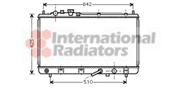 Radiateur, refroidissement du moteur - VAN WEZEL - 27002167