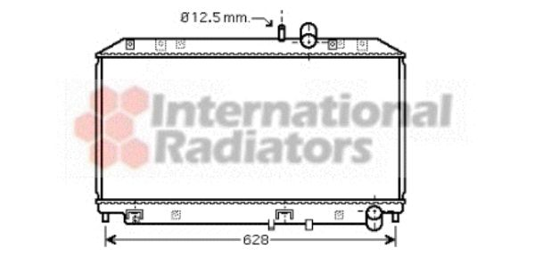 Radiateur, refroidissement du moteur - VAN WEZEL - 27002169