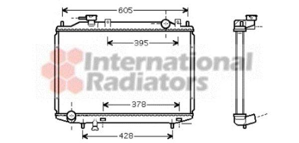 Radiateur, refroidissement du moteur - VAN WEZEL - 27002171