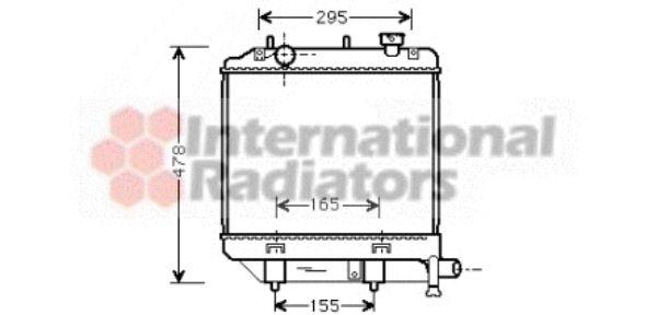 Radiateur, refroidissement du moteur - VAN WEZEL - 27002172