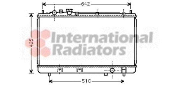 Radiateur, refroidissement du moteur - VAN WEZEL - 27002173