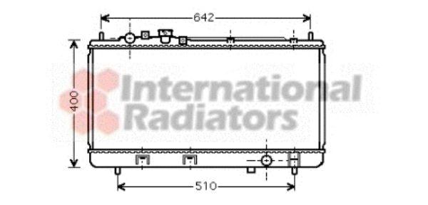 Radiateur, refroidissement du moteur - VAN WEZEL - 27002176