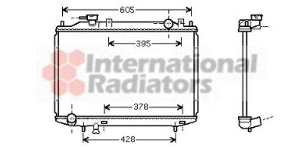 Radiateur, refroidissement du moteur - VAN WEZEL - 27002181