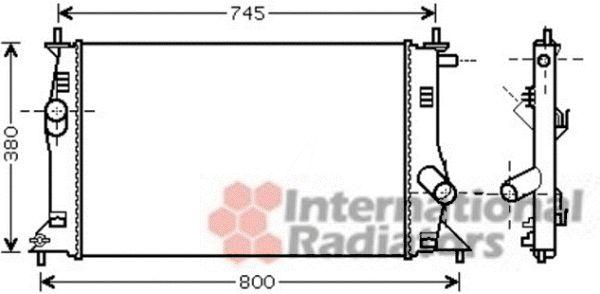 Radiateur, refroidissement du moteur - VAN WEZEL - 27002183