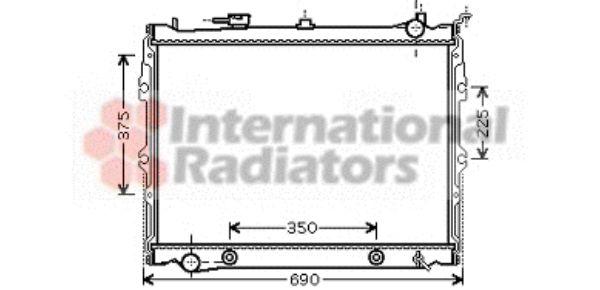 Radiateur, refroidissement du moteur - VAN WEZEL - 27002190