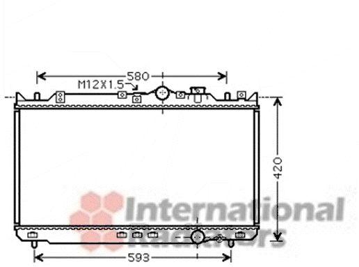 Radiateur, refroidissement du moteur - VAN WEZEL - 27002201