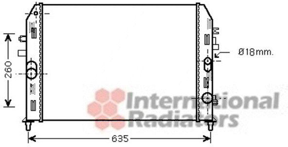 Radiateur, refroidissement du moteur - VAN WEZEL - 27002205