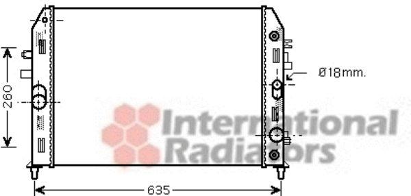 Radiateur, refroidissement du moteur - VAN WEZEL - 27002206