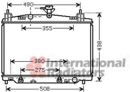 Radiateur, refroidissement du moteur - VAN WEZEL - 27002212