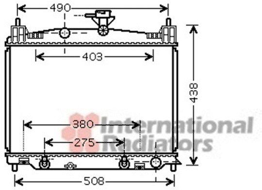 Radiateur, refroidissement du moteur - VAN WEZEL - 27002215
