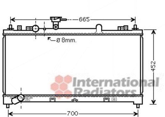Radiateur, refroidissement du moteur - VAN WEZEL - 27002218