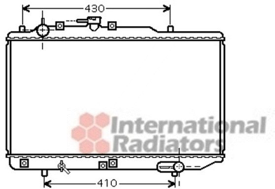 Radiateur, refroidissement du moteur - VAN WEZEL - 27002221