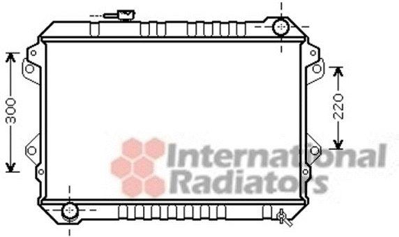 Radiateur, refroidissement du moteur - VAN WEZEL - 27002232