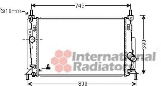 Radiateur, refroidissement du moteur - VAN WEZEL - 27002237