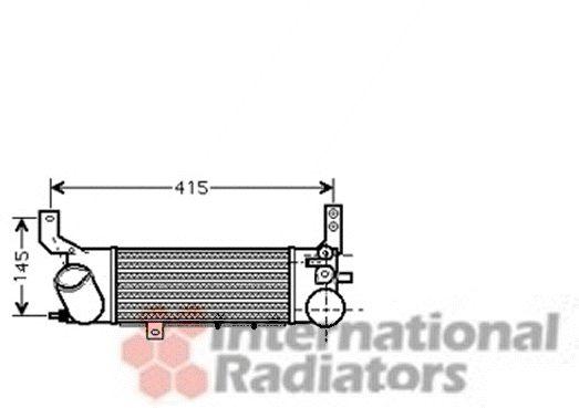 Intercooler, échangeur - VAN WEZEL - 27004187