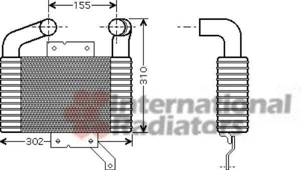 Intercooler, échangeur - VAN WEZEL - 27004189