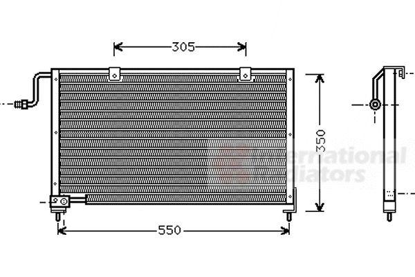 Condenseur, climatisation - VAN WEZEL - 27005106