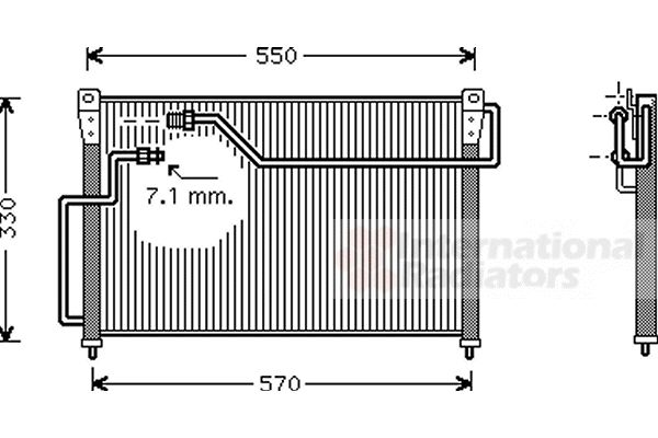 Condenseur, climatisation - VAN WEZEL - 27005107