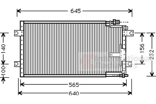 Condenseur, climatisation - VAN WEZEL - 27005109