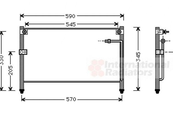 Condenseur, climatisation - VAN WEZEL - 27005112