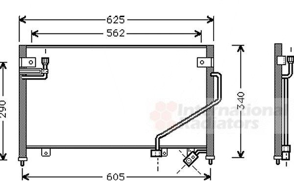Condenseur, climatisation - VAN WEZEL - 27005120