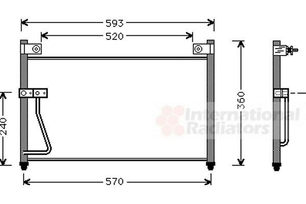 Condenseur, climatisation - VWA - 88VWA27005126