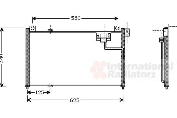 Condenseur, climatisation - VAN WEZEL - 27005127