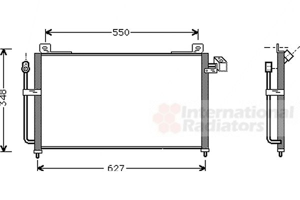Condenseur, climatisation - VAN WEZEL - 27005141